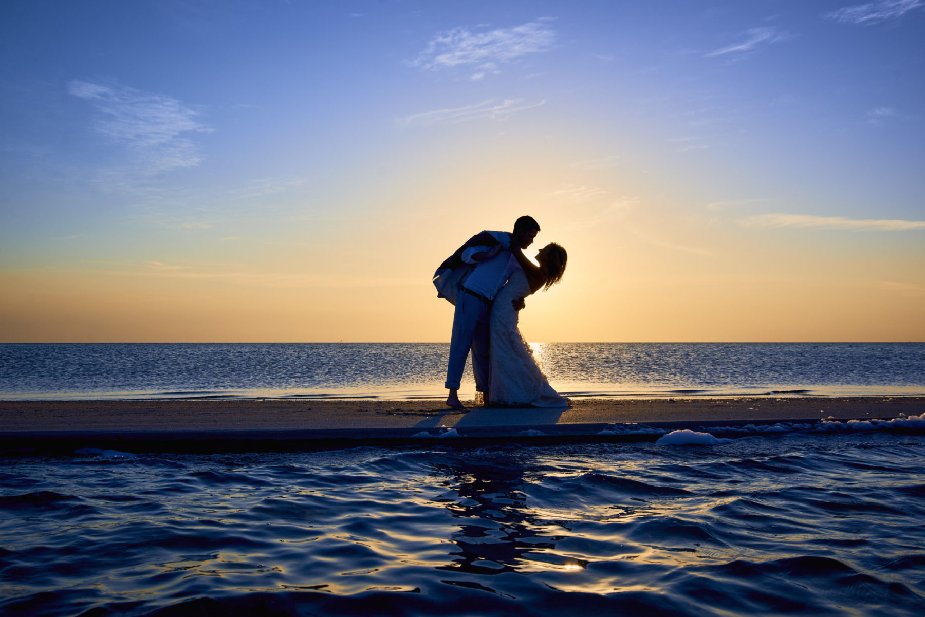 Bride and Groom at Ambergris Caye, Belize