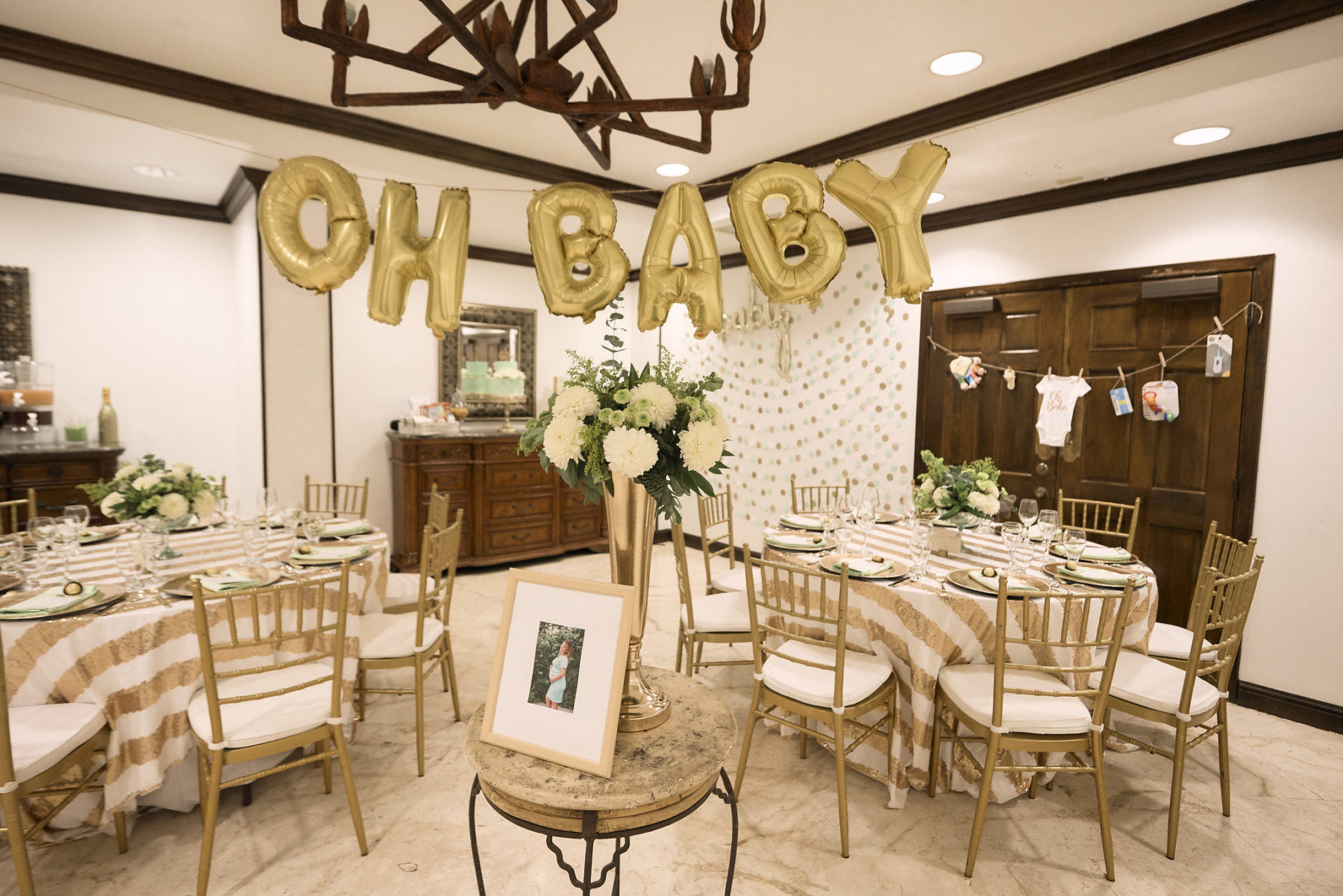 White and Gold Baby shower, Radisson Fort George Hotel and Marina, Belize City